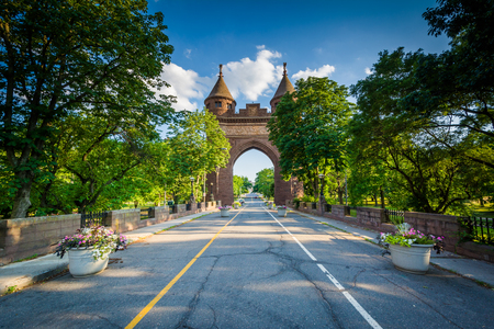 hartford: The Soldiers and Sailors Memorial Arch, in Hartford, Connecticut.