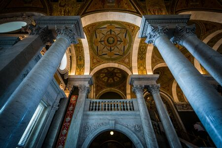 downtown capitol: The interior of the Library of Congress, in Washington, DC. Editorial