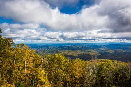 blue ridge: Autumn view from the Blue Ridge Parkway near Blowing Rock, North Carolina.