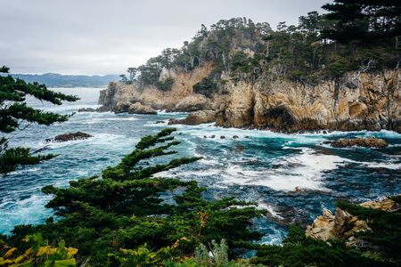 state of mood: View of rocky coast at Point Lobos State Natural Reserve, in Carmel, California.