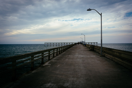 fishing pier: The fishing pier in Ocean Beach, California. Stock Photo