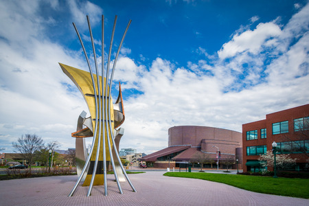 maryland: Sculpture in Midtown Baltimore, Maryland. Stock Photo