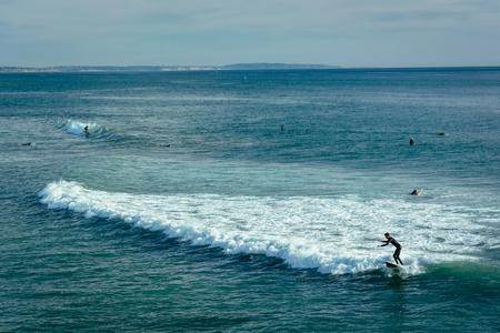 oceanside: Surfers in Oceanside, California.