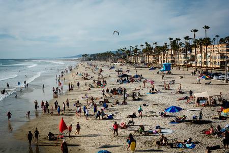 oceanside: View of the beach in Oceanside, California.
