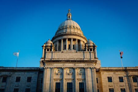 providence: The Rhode Island State House, in Providence, Rhode Island.