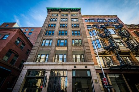 providence: Buildings in downtown Providence, Rhode Island. Stock Photo