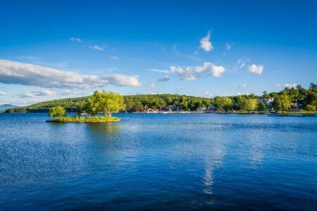 View of Lake Winnipesaukee in Merideth, New Hampshire.