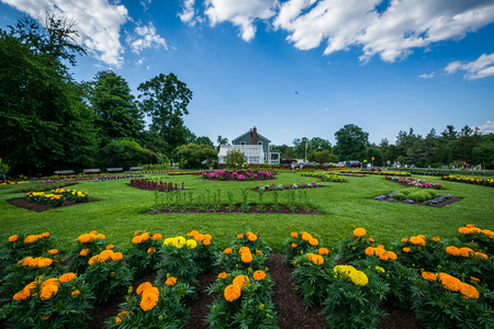 hartford: Gardens at Elizabeth Park, in Hartford, Connecticut. Stock Photo