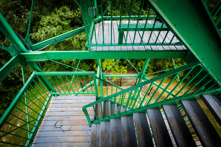 garrison: The stairs of Garrison Hill Tower at Garrison Hill Park, in Dover, New Hampshire.