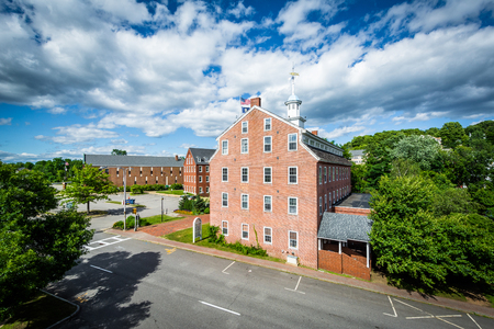 laconia: Historic brick building in Laconia, New Hampshire. Stock Photo