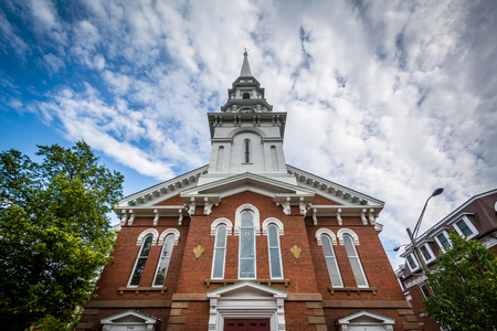 portsmouth: The North Church of Portsmouth, in Portsmouth, New Hampshire. Stock Photo
