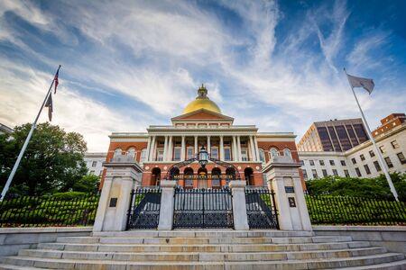massachusetts: The Massachusetts State House, in Boston, Massachusetts. Stock Photo