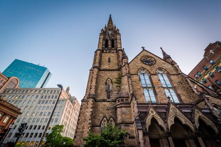 back bay: The Church of the Covenant, in Back Bay, Boston, Massachusetts.