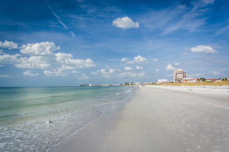 pete: The Gulf of Mexico and beach at St. Pete Beach, Florida.