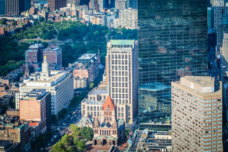 back bay: View of Copley Square, in Back Bay, Boston, Massachusetts.