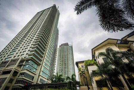 highrises: Highrises in Makati, Metro Manila, The Philippines.