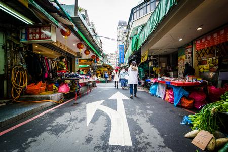 Street market near Dongmen, in the Zhongzheng District, Taipei, Taiwan. Editorial