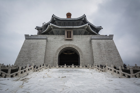 The National Chiang Kai-shek Memorial Hall at Taiwan Democracy Memorial Park, in Taipei, Taiwan.
