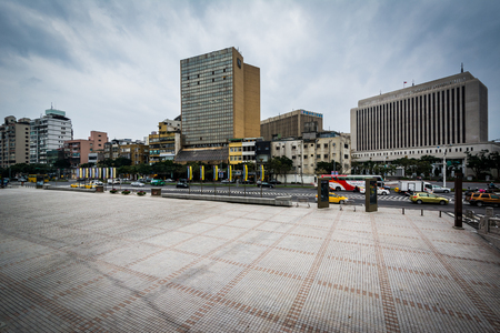 Buildings near Chiang Kai-Shek Memorial Hall in the Zhongzheng District, of Taipei, Taiwan. Editorial