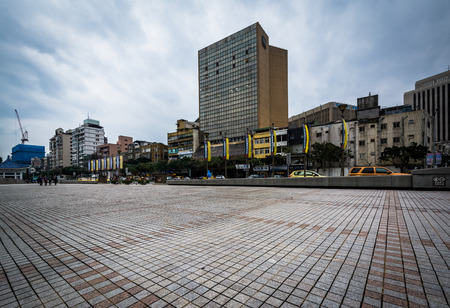 Buildings near Chiang Kai-Shek Memorial Hall in the Zhongzheng District, of Taipei, Taiwan. Editorial