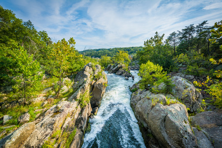 wispy: Rapids in the Potomac River at Great Falls, seen from Olmsted Island at Chesapeake & Ohio Canal National Historical Park, Maryland.