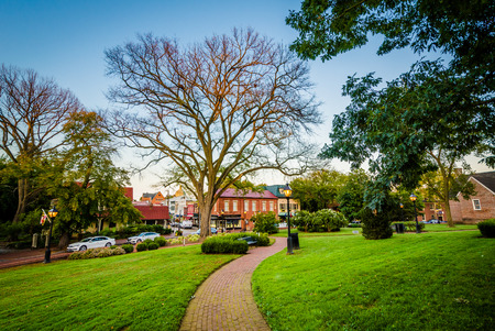 maryland: Walkway outside the Maryland State House, in Annapolis, Maryland. Stock Photo