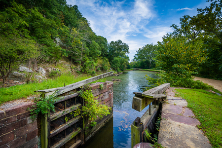 The C & O Canal, at Chesapeake & Ohio Canal National Historical Park, Maryland.