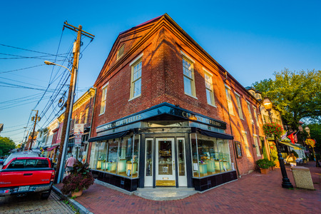 maryland: Old brick buildings in downtown Annapolis, Maryland.