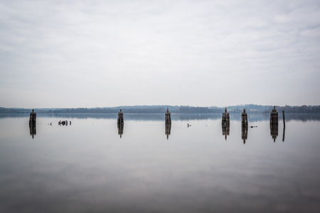 pilings: Pilings in the Potomac River, in Alexandria, Virginia.