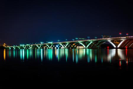 wilson: The Woodrow Wilson Bridge at night, in Alexandria, Virginia.