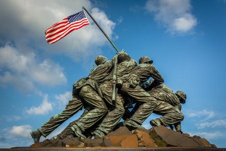 The US Marine Corps War Memorial in Arlington, Virginia. Editorial
