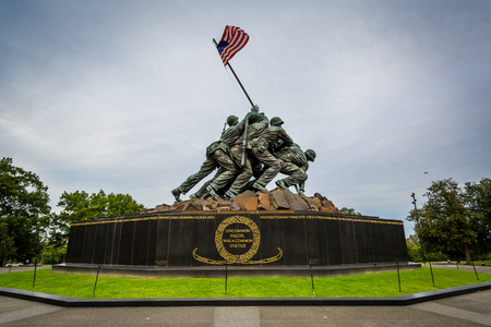 The US Marine Corps War Memorial in Arlington, Virginia. Editorial