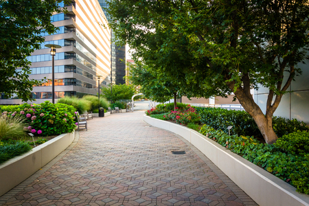 Gardens And Modern Buildings Along A Path At Freedom Park, In ...