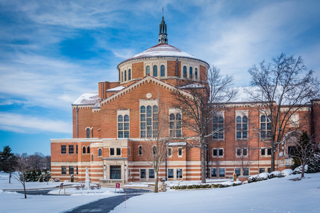 Winter view of the National Shrine of Saint Elizabeth Ann Seton in Emmitsburg, Maryland. Editorial