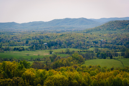 appalachian: Spring view of the Appalachian Mountains from an overlook on I-64 near Waynesboro, Virginia.