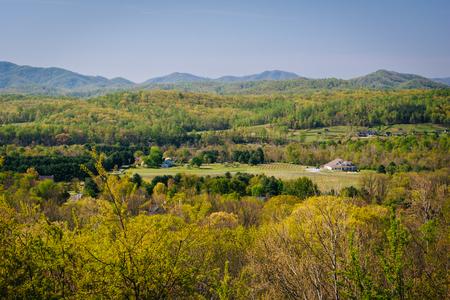 appalachian: Spring view of the Appalachian Mountains from an overlook on I-64 near Waynesboro, Virginia.