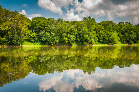The Potomac River, at Balls Bluff Battlefield Park in Leesburg, Virginia. Stock Photo