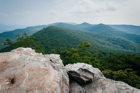 appalachian: View of the Appalachian Mountains from Duncan Knob, George Washington National Forest, Virginia. Stock Photo
