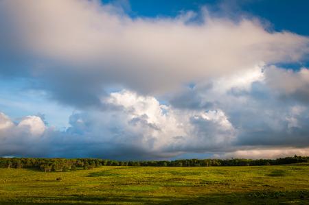 Beautiful clouds over Big Meadows, in Shenandoah National Park, Virginia.
