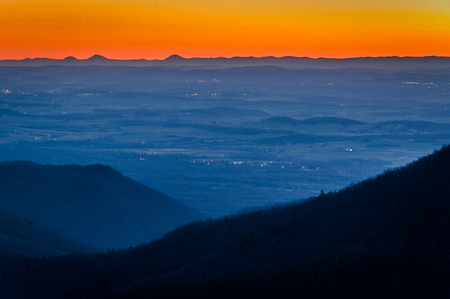 blackrock: Sunset view of the Shenandoah Valley from Blackrock Summit, in Shenandoah National Park, Virginia.