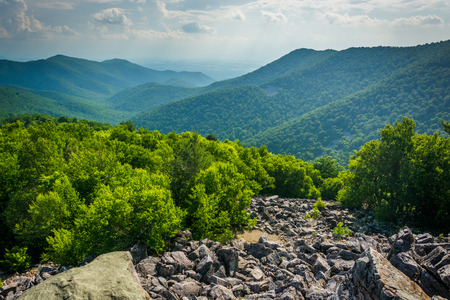 blackrock: View of the Blue Ridge from Blackrock Summit, in Shenandoah National Park, Virginia.