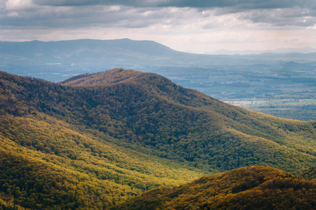 blackrock: View of spring color in the Blue Ridge Mountains from Blackrock Summit, in Shenandoah National Park, Virginia.