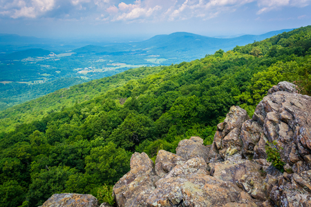 appalachian: View from South Marshall, along the Appalachian Trail in Shenandoah National Park, Virginia.