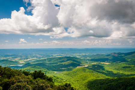 rural skyline: View of the Shenandoah Valley from Skyline Drive, in Shenandoah National Park, Virginia.