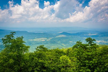 appalachian: View from South Marshall, along the Appalachian Trail in Shenandoah National Park, Virginia.