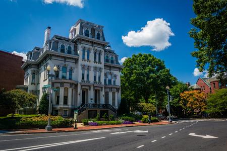 Historic house along Logan Circle, in Washington, DC.