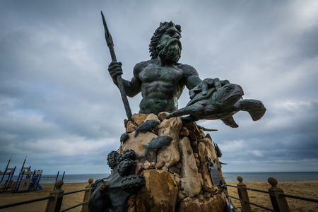 The King Neptune Statue in Virginia Beach, Virginia.