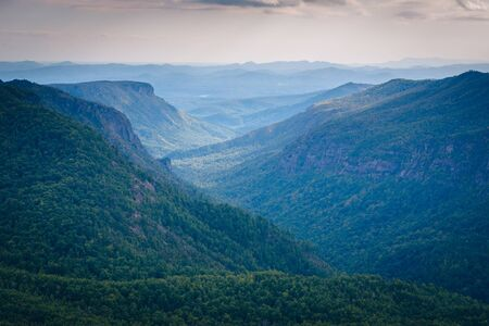 wnc: View of the Linville Gorge from Hawksbill Mountain, in Pisgah National Forest, North Carolina.