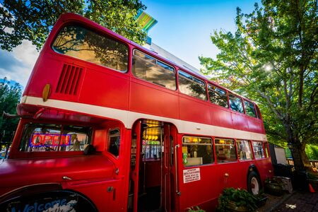 The Double Decker Bus in Downtown Asheville, North Carolina.