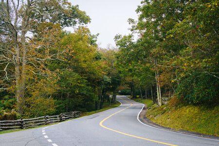 wnc: The road to Grandfather Mountain, at Grandfather Mountain, North Carolina.